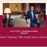 Αλ. Τσίπρας στους FT: Χρειαζόμαστε περισσότερες μεταρρυθμίσεις