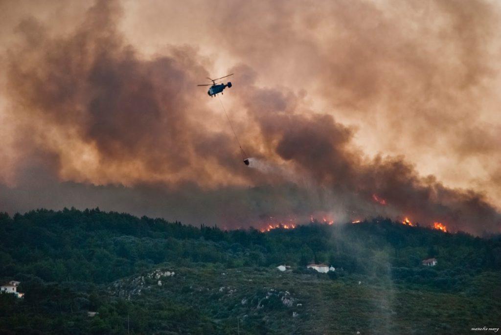 Πολύ υψηλός κίνδυνος πυρκαγιάς την Παρασκευή στο νησί μας