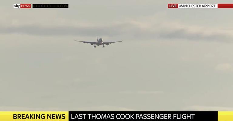Τελευταία προσγείωση στο Μάντσεστερ  – Δάκρυα εν πτήση για την χρεοκοπία (βίντεο)