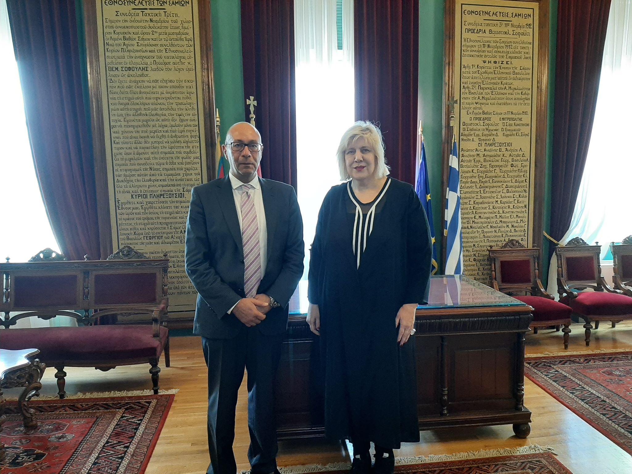 Στη Σάμο η Επίτροπος Ανθρωπίνων Δικαιωμάτων του Συμβουλίου της Ευρώπης