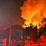 Μεγάλες καταστροφές της νότιας πλευράς του ΚΥΤ Σάμου από τη φωτιά