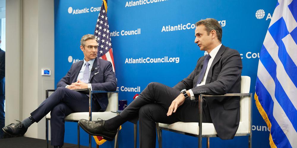 Μητσοτάκης στο Atlantic Council: Γεωγραφικά γελοία η συμφωνία Τουρκίας-Λιβύης