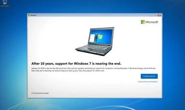 Τέλος για τα Windows 7: Η Microsoft σταματά από σήμερα την τεχνική υποστήριξη τους