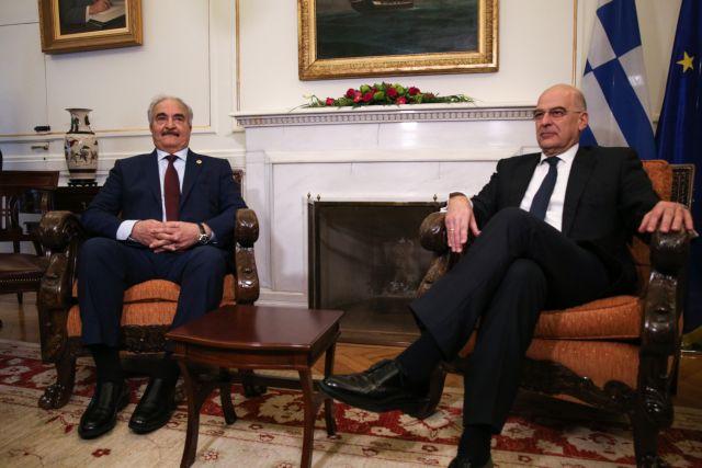 Δένδιας μετά τη συνάντηση με Χαφτάρ:  Συμφωνήσαμε σε όλα – Η Ελλάδα έτοιμη να βοηθήσει τη Λιβύη