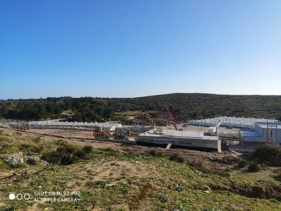 Αποκλεισμός του χώρου επίταξης και της υπό κατασκευής υπερδομής στη περιοχή Ζερβού του Δήμου Αν. Σάμου