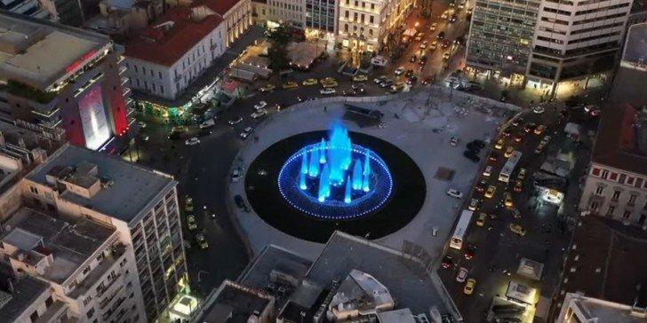 Εντυπωσιακό βίντεο: Η ανανεωμένη πλατεία Ομονοίας από ψηλά!